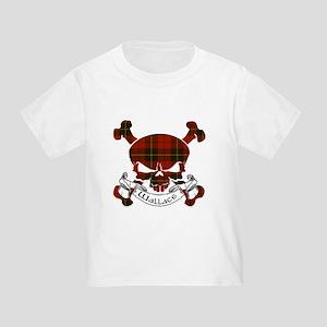 Wallace Tartan Skull Toddler T-Shirt