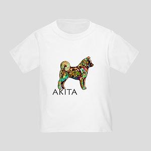 Glow Bright Akita Toddler T-Shirt