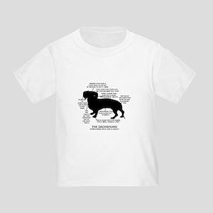 Dachshund Chart Toddler T-Shirt