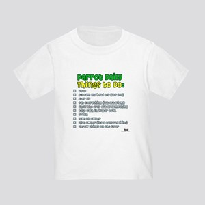 Parrot Things to Do List Toddler T-Shirt