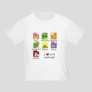 I Love Zoo Animals Toddler T-Shirt
