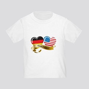 Germany/USA Flag_Our Family Toddler T-Shirt