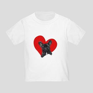 Black Frenchie Lover Toddler T-Shirt