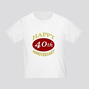 Happy 40th Anniversary Toddler T-Shirt