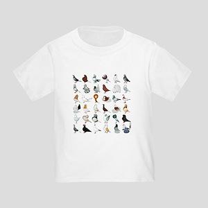 36 Pigeon Breeds Toddler T-Shirt