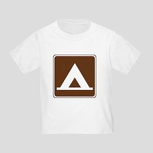 Camping Tent Sign Toddler T-Shirt