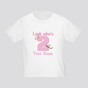 2nd Birthday Dragonfly Toddler T-Shirt