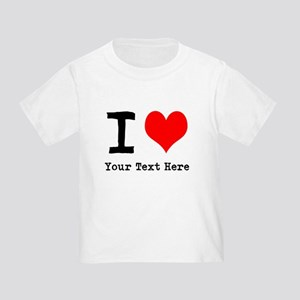 I Heart (personalized) Toddler T-Shirt