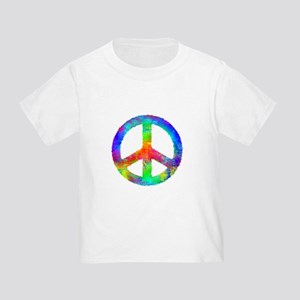 Multicolored Peace Sign Toddler T-Shirt