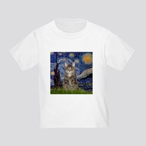 Starry Night & Tiger Cat Toddler T-Shirt