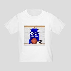 Personalized Basketball Jerse Toddler T-Shirt