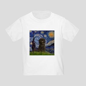 Starry Night & Affenpinscher Toddler T-Shir