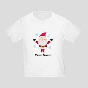 Personalized Santa Snowflake Toddler T-Shirt