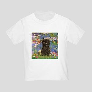 Monet's Lilies & Affenpinsche Toddler T-Shi