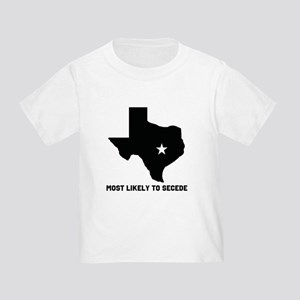 Most Likely To Secede (Black) Toddler T-Shirt