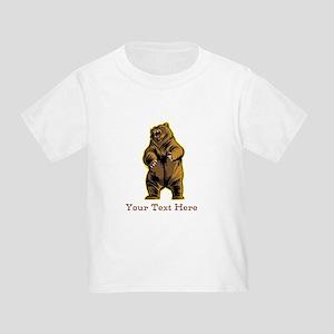 Bear. Custom Text. Toddler T-Shirt