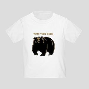 Big Bear with Custom Text. Toddler T-Shirt