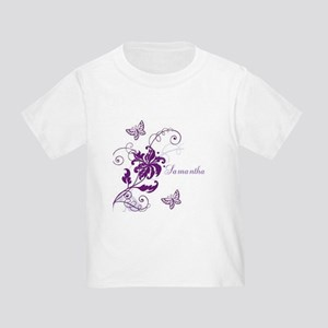 Purple Butterflies and Vines Toddler T-Shirt