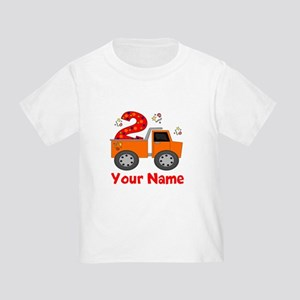 2nd Birthday Dump Truck Toddler T-Shirt