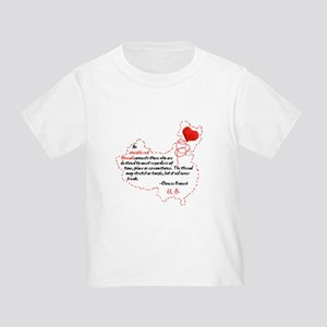 Red Thread on Light Toddler T-Shirt