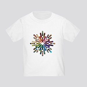 Skateboard Art Mandala Toddler T-Shirt