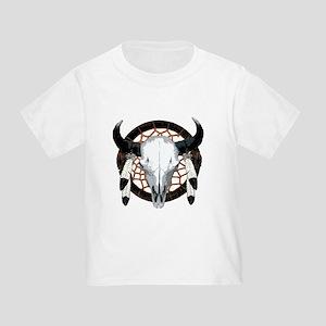 Buffalo skull dream catcher Toddler T-Shirt