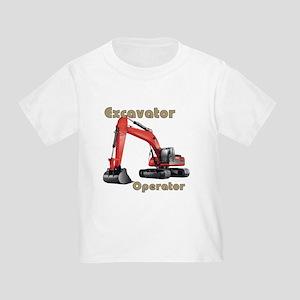 Red Excavator Toddler T-Shirt