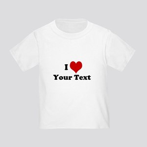 Customized I Love Heart Toddler T-Shirt