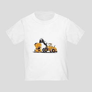 Front End Loader Digger Excavator Retro Toddler T-
