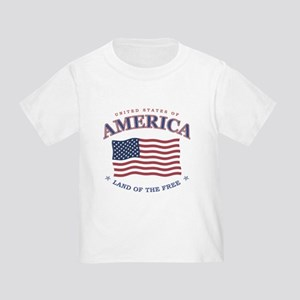 American Flag, 4th of July Toddler T-Shirt