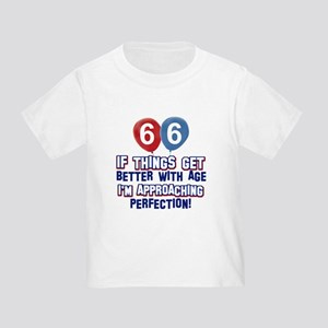 66 year Old Birthday Designs Toddler T-Shirt