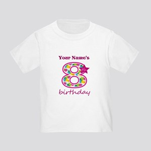 8th Birthday Splat - Personalized Toddler T-Shirt
