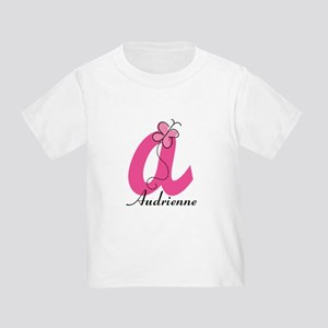 Personalized Monogram Letter A Butterfly T-Shirt