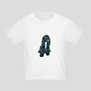 Cocker (black- white bib) Toddler T-Shirt