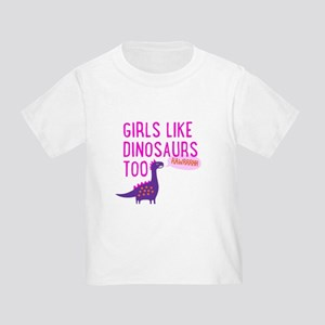 Girls Like Dinosaurs Too RAWRRHH T-Shirt