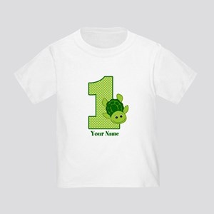 Personalized Turtle 1st Birthday Toddler T-Shirt