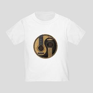 Old and Worn Acoustic Guitars Yin Yang T-Shirt