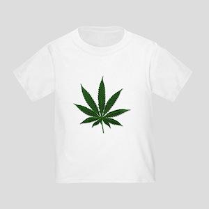 Marijuana Pot Leaf (Front) Toddler T-Shirt