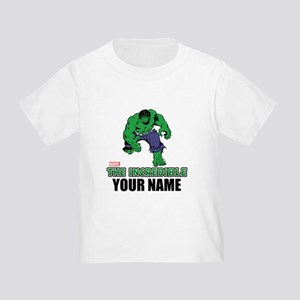 The Incredible Hulk Personalized D Toddler T-Shirt