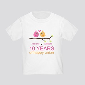 10th Anniversary Personalized Toddler T-Shirt