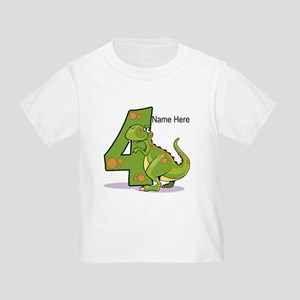 4th Birthday Dinosaur Toddler T-Shirt