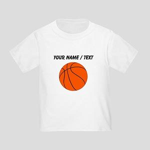 Custom Orange Basketball T-Shirt