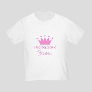 Personalized pink princess crown T-Shirt