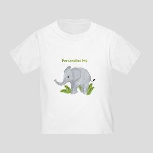 Personalized Elephant Toddler T-Shirt