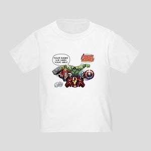 Avengers Assemble Personalized Des Toddler T-Shirt