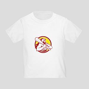 Hercules Lion Skin Wield Club Circle Retro T-Shirt