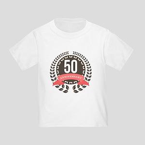 50 Years Anniversary Laurel Badge Toddler T-Shirt