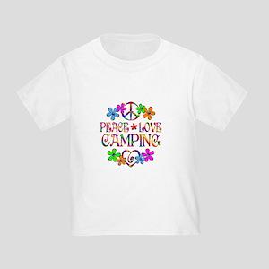 Peace Love Camping Toddler T-Shirt