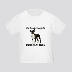 Personalized Boston Terrier Toddler T-Shirt