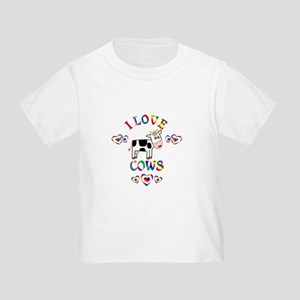 I Love Cows Toddler T-Shirt
